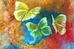3-Schmetterlinge . 100 x 100 cm