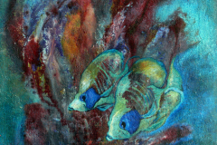 Gelbe-Fische-.-100-x-75-cm