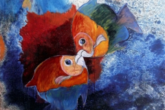Kissing-Fishes-.-120-x-90-cm