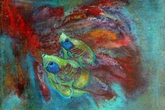 Gelbe-Fische-92-x-73-cm